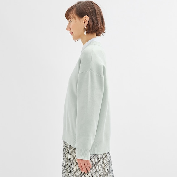 スウェットライクオーバーサイズセーター(長袖)Q