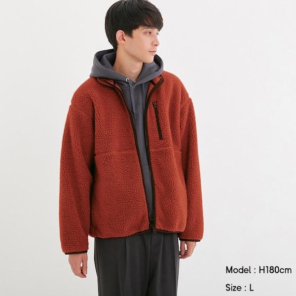 シープボアフリースジャケット(長袖)-ORANGE