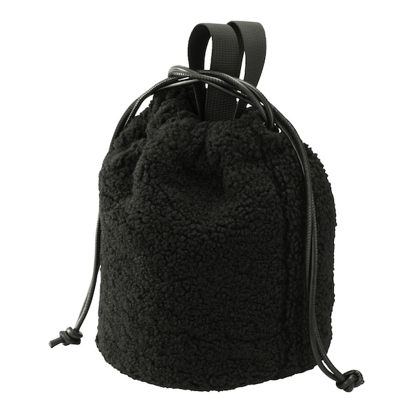 ボアドローストリングバッグ-BLACK
