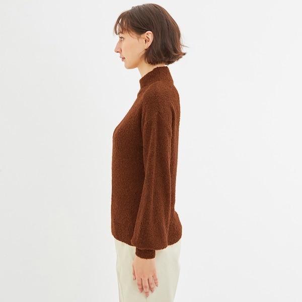 ブークレハイネックセーター(長袖)