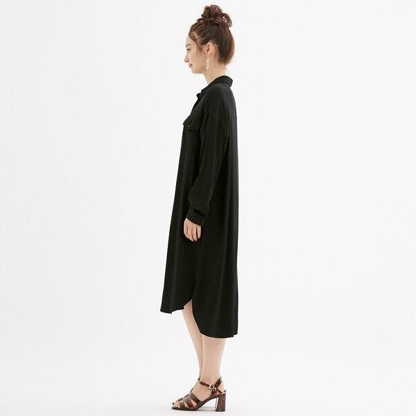 ワークシャツワンピース(長袖)NC+E