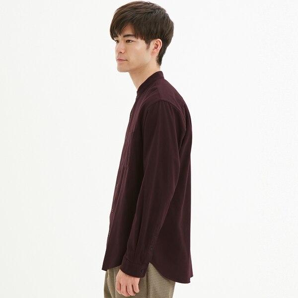 フランネルスタンドカラーシャツ(長袖)