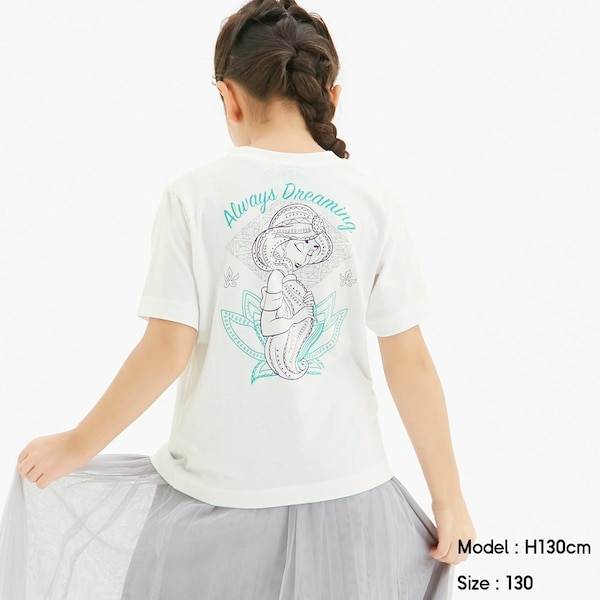 GIRLSグラフィックT(半袖)Disney2-WHITE
