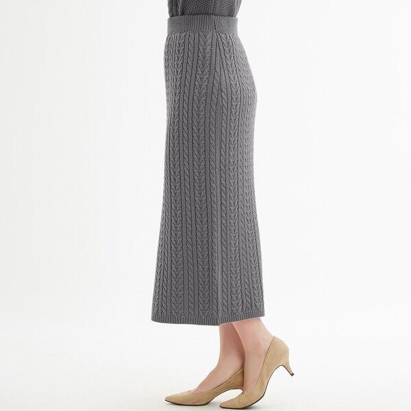 ケーブルニットナロースカート(セットアップ可能)