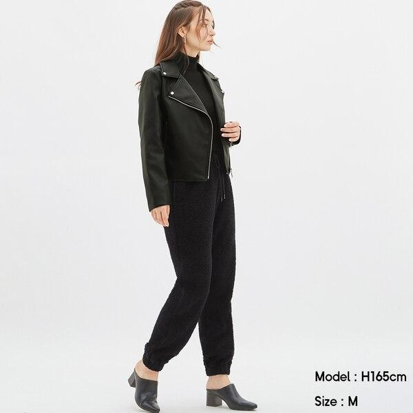 ボアジョガーパンツJN+X-BLACK