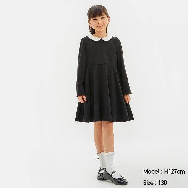 GIRLSワンピース(長袖)CL+E-BLACK