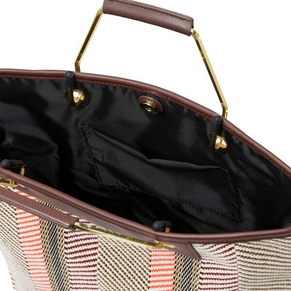 メタルハンドルトートバッグ