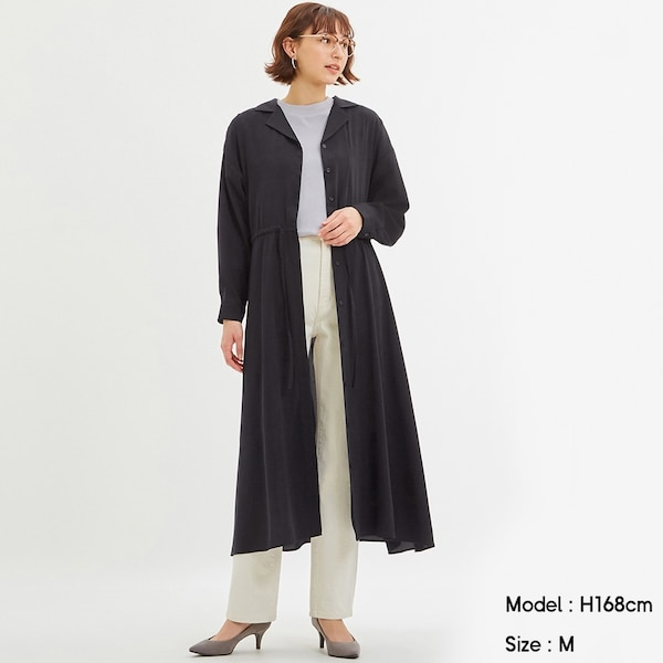 オープンカラーシャツワンピース(長袖)+X-NAVY