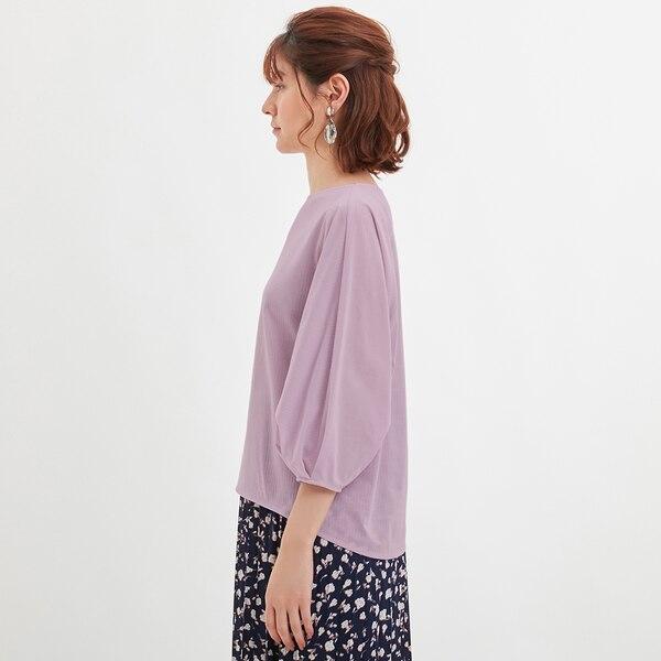 シアーストライププルオーバー(7分袖)+X