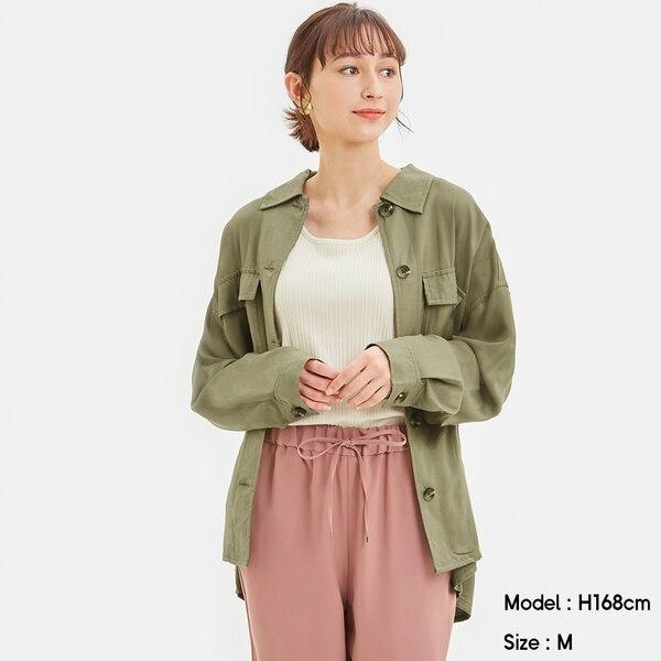 ダブルポケットワークシャツ(長袖)Q-OLIVE