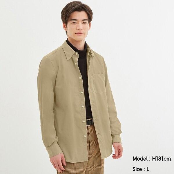 ブロードシャツ(長袖)CL-BEIGE