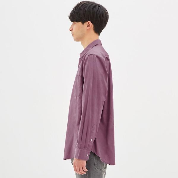 リネンブレンドシャツ(長袖)