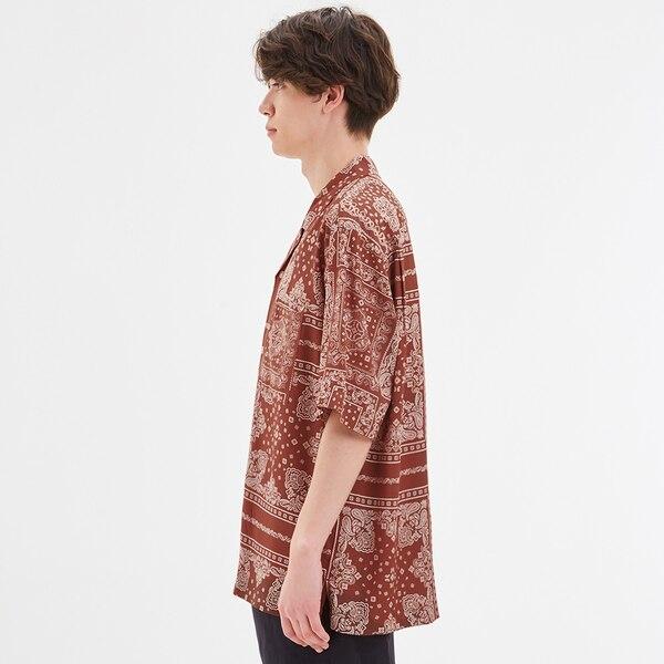 オープンカラーシャツ(5分袖)(バンダナ)