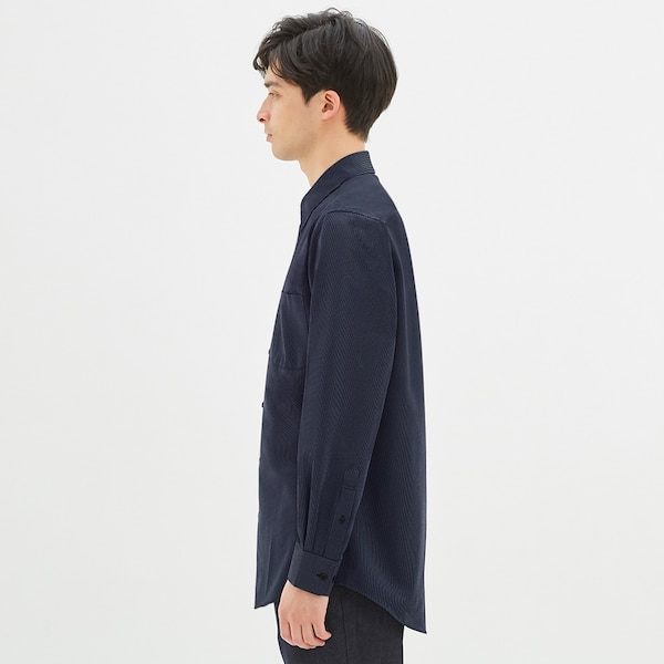 GUドライシャツ(長袖)(ストライプ1)CL+E