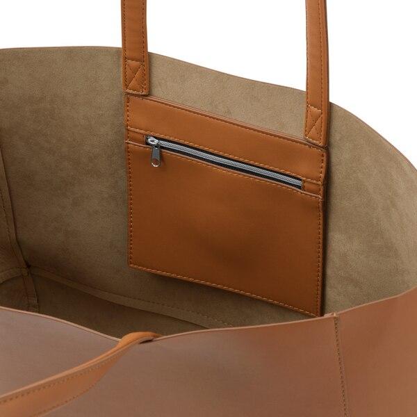 レザータッチトートバッグ+E