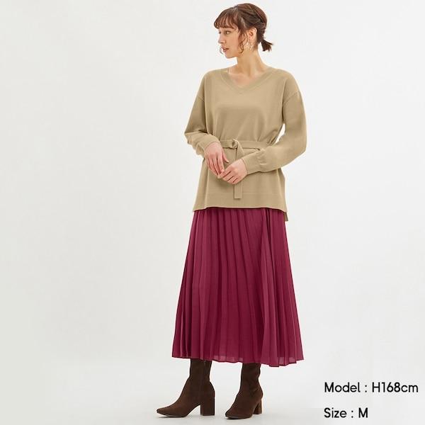 プリーツロングスカートZ+E-PINK