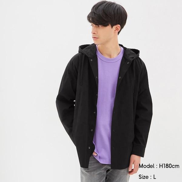 フーディシャツアウター(長袖)+E-BLACK