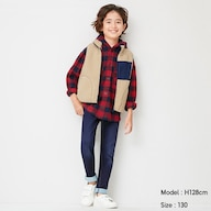 KIDS(男女兼用)ストレッチ裏起毛デニムスキニーパンツ
