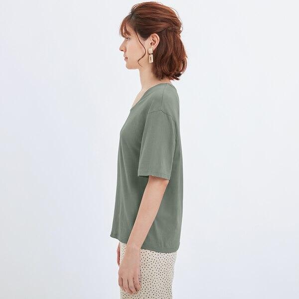 UネックT(5分袖)