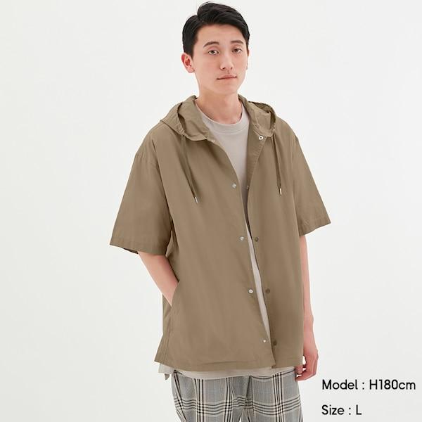 フーディシャツ(5分袖)+E-BEIGE