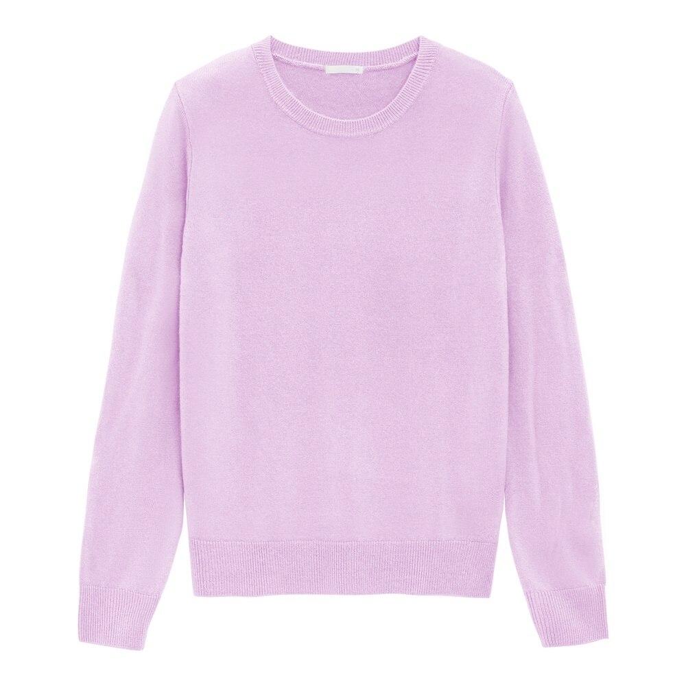 (GU)ソフトリッチクルーネックセーター(長袖)