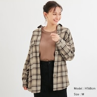 フランネルオーバーサイズチェックシャツ(長袖)B