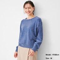 モールヤーンクルーネックセーター(長袖)