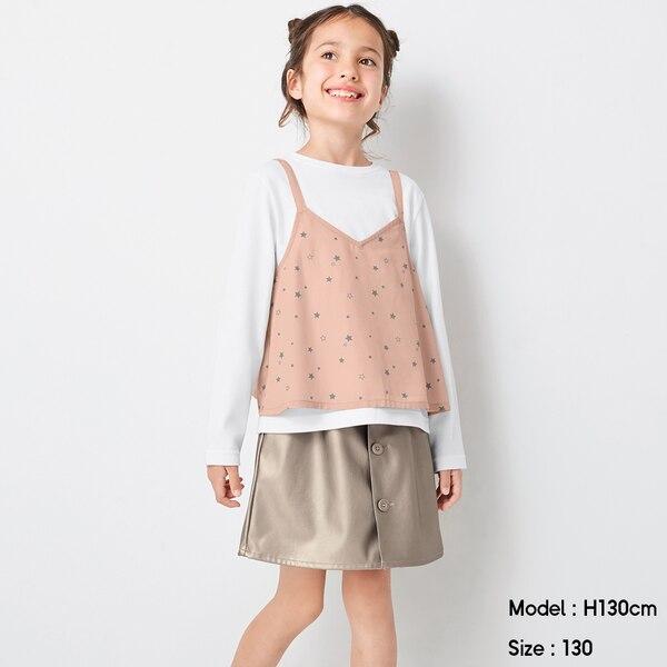 GIRLSフェイクレザースカート-80