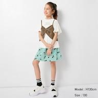 GIRLSプリントスカートパンツ(チェリー)+E