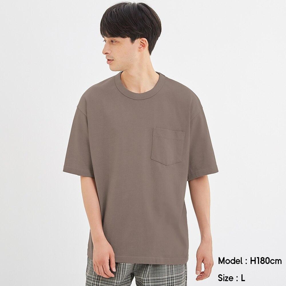 (GU)ヘビーウェイトビッグT(5分袖)