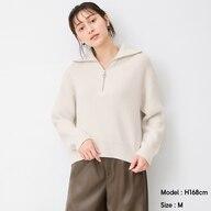 オーバーサイズハーフジップセーター(長袖)Q