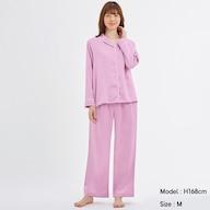 サテンパジャマ(長袖)