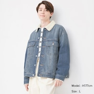 ボアデニムビッグジャケット+X