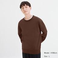 ファインゲージクルーネックセーター(長袖)CL+E