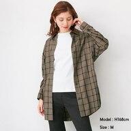 チェックオーバーサイズシャツ(長袖)SD+X