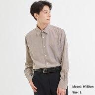 ブロードシャツ(長袖)(チェック)CL+E