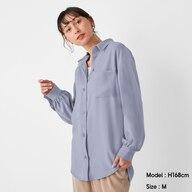 オーバーサイズロングシャツ(長袖)Z+E