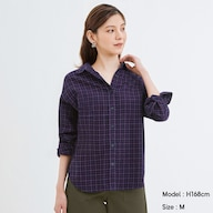 フランネルチェックシャツ(長袖)B+X