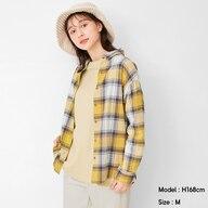 フランネルチェックシャツ(長袖)H+X
