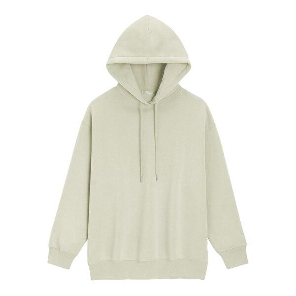 オーバーサイズスウェットプルパーカ(長袖)-LIGHT GREEN