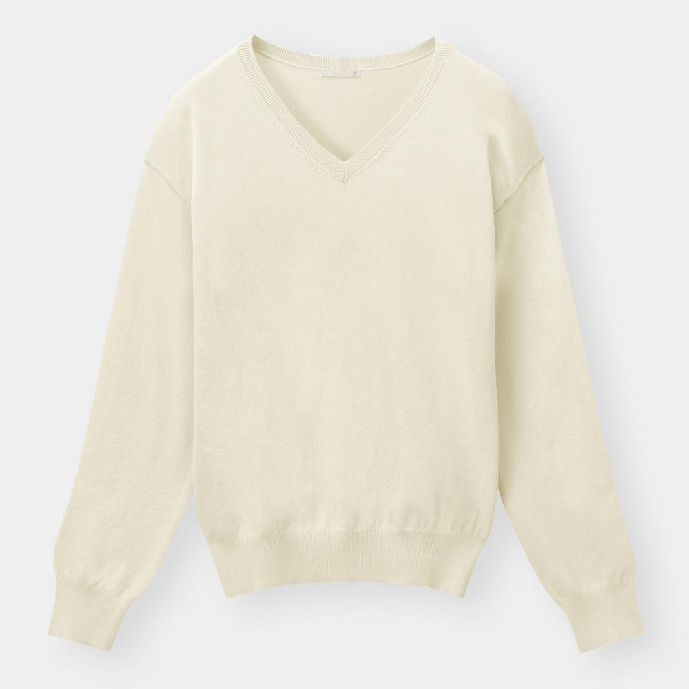 (GU)Vネックセーター(長袖)