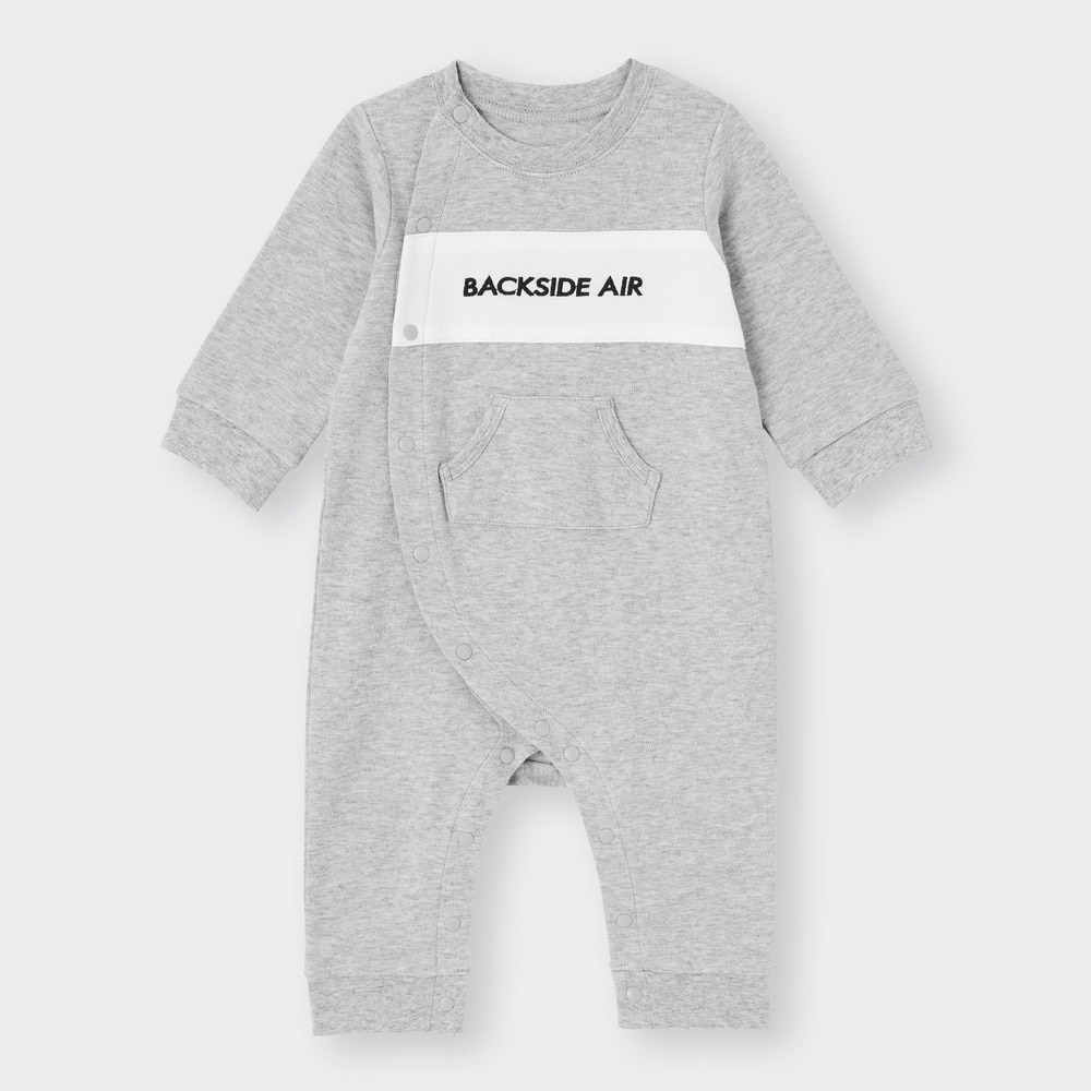 (GU)BABY(NEWBORN)カバーオール(長袖)(ロゴ)+X