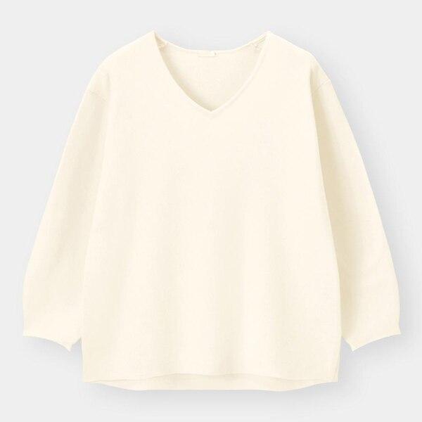 スムースコクーンセーター(長袖)-OFF WHITE