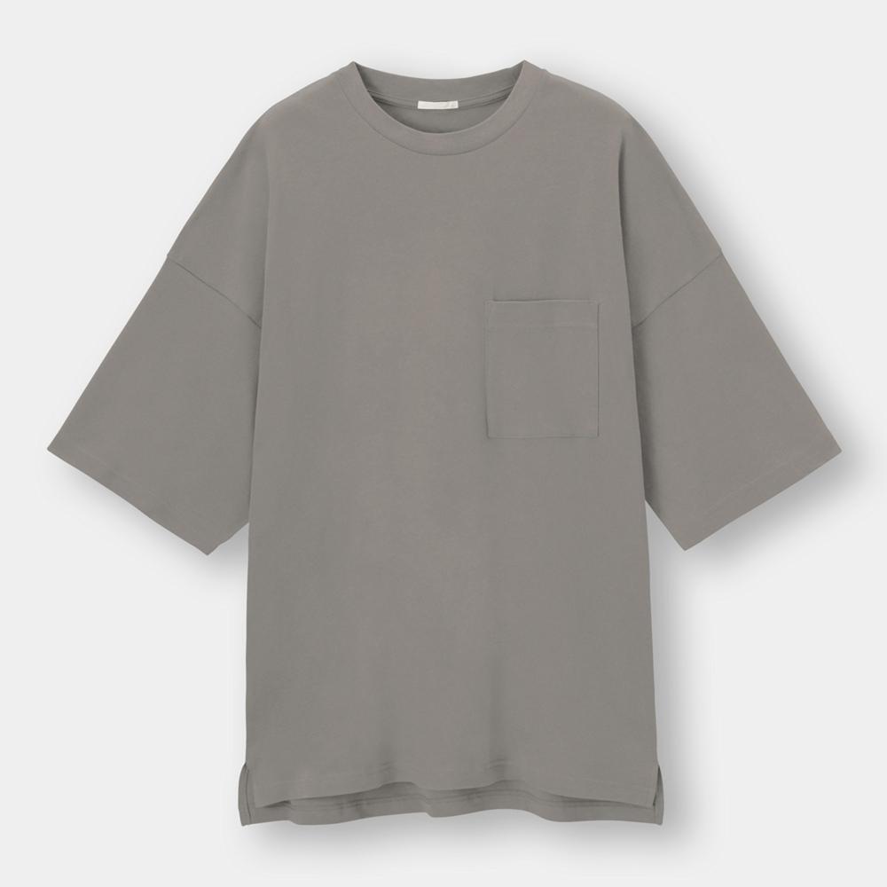 (GU)ルーズフィットT(5分袖)