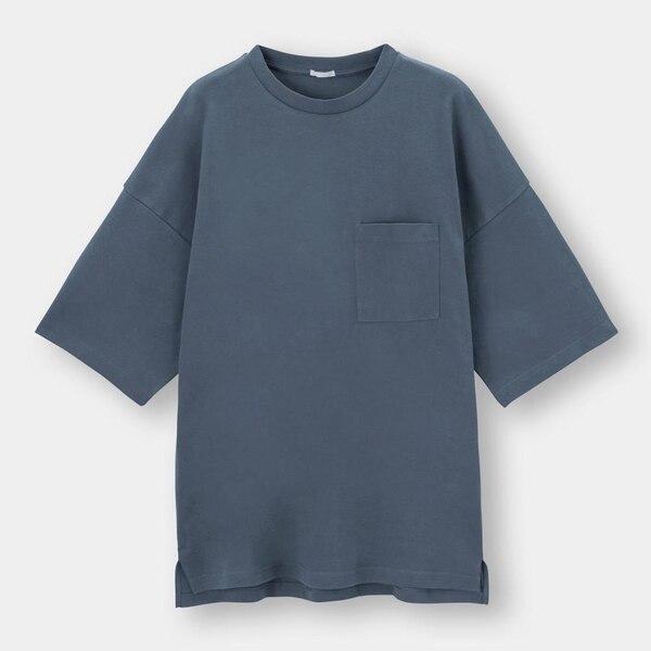 ルーズフィットT(5分袖)-BLUE