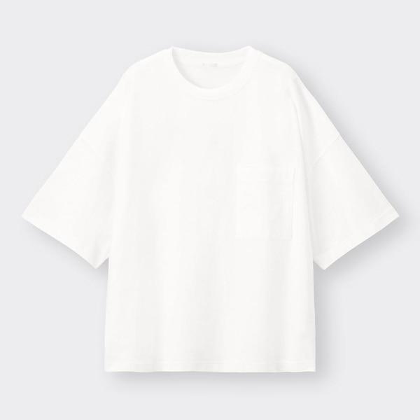 ワイドフィットT(5分袖)-WHITE