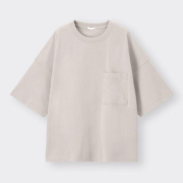ワイドフィットT(5分袖)-GRAY