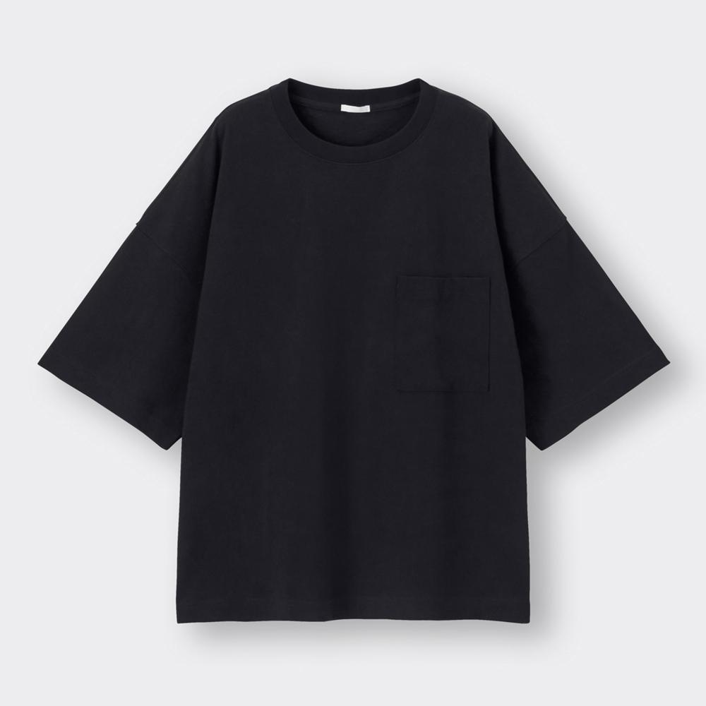 (GU)ワイドフィットT(5分袖)