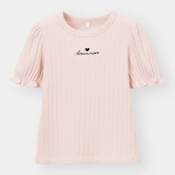 GIRLSエンブロイダリーロゴリブT(半袖)