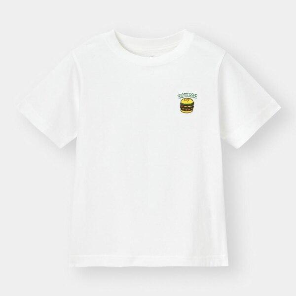 BOYSワンポイント刺繍T(半袖)-OFF WHITE